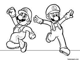 printabel cartoon super mario coloring pages kids printable