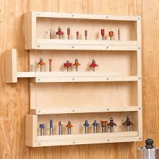 Storage Shelf Woodworking Plans by Router Bit Cabinet Storage Woodworking Plan Shop Project Plan