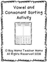 consonants vowels worksheet children u0027s worksheets pinterest
