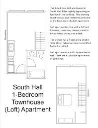 Loft Floor Plans South Hall Floor Plans Residential Life Plu