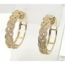 gold diamond earrings 14k yellow gold diamond earrings