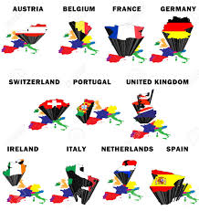 The National Map Outline Map Of Western Europe With Each Country Raised And