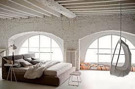 Swing Chair Bedroom Bedroom Vintage Industrial Bedroom With Brown Grey Comfort Bed