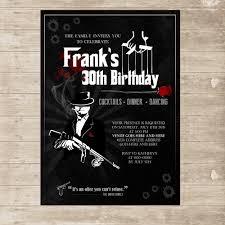 shark birthday invitations mafia invitation mobster gangster mob invite for men godfather