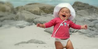Baby Eating Sand Meme - 8 reasons you should take your baby to the beach huffpost