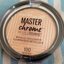Maybelline Master Chrome maybelline master chrome by studio metallic highlighter 100