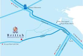 Phuket Map Bis Map British International Phuket