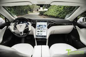 ferrari custom interior white tesla model s 1 0 custom ferrari white interior