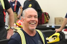 Wildfire Radio by Premier John Horgan Trains With Vancouver Firefighters Addresses
