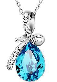 blue crystal necklace swarovski images Neoglory jewellery made with swarovski elements blue crystal jpg