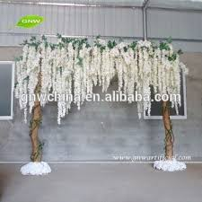 wedding backdrop arch gnw fla1603001 w01 new white wisteria flower wood stand wishing