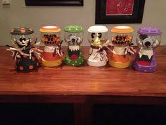 halloween candy jars made with terra cotta pots and glass