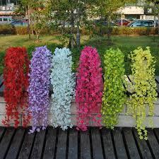 Silk Flower Plants - online cheap new nice artificial silk flower vine fake garden