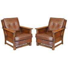 Leather Sofa San Antonio by Pair Of Wood And Leather Rustic Chairs At 1stdibs