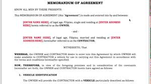 uber driver contract template for ph drivers 2017 youtube