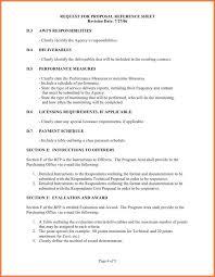 scope of work example bio letter sample