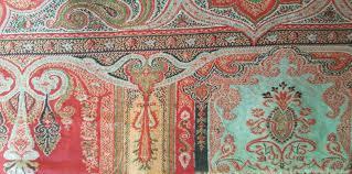 Paisley Home Decor 1800 U0027s Antique Kashmir Wool Paisley Fabric