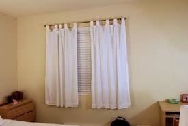 modest bedroom curtains for small windows best design 9405