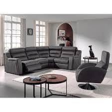 divan canapé canapé d angle avec 2 relax électriques tissu microfibre l