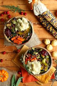 roasted vegan thanksgiving bowl i vegan