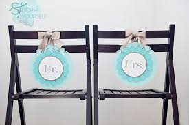 wedding chair signs diy mr mrs chair sign something turquoise
