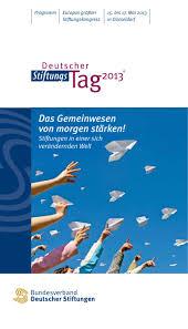 Dr Gutberlet Bad Homburg Programm Deutscher Stiftungstag 2013 In Düsseldorf By