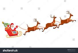 santa claus on sleigh his reindeers stock vector 500862256