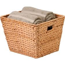 storage bins wicker storage bins with lids square basket woven