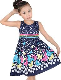 amazon com girls dress navy blue butterfly party child