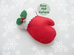 pdf pattern mitten christmas ornaments pattern felt mitten