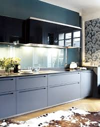kitchen interactive blue and yellow kitchen decoration using white