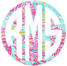 monogram car decal monogram car decal coral be monogrammed