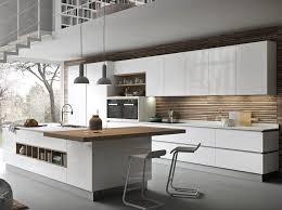 contemporary kitchen wooden island lacquered ainoa