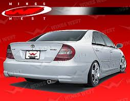 2004 toyota camry lights 2002 2004 toyota camry 4dr jpc rear lip polyurethane vis racing