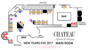 nightclub floor plan chateau new years tickets nye party nightlife guide 2018 new years