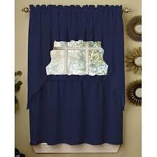 Blue Kitchen Curtains by Window Tiers Beddingtrends