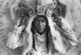 mardi gras indian costumes for sale allison tootie montana is big chief of the yellow pocahontas tribe