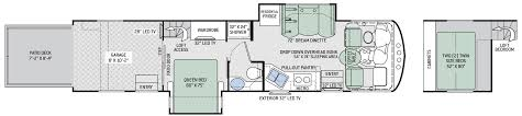 Motorhome Garage Plans by Floor Plans Outlaw Class A 37rb