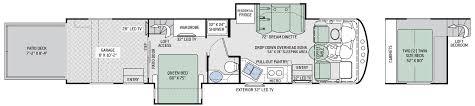 Motorhome Garage Plans Floor Plans Outlaw Class A 37rb