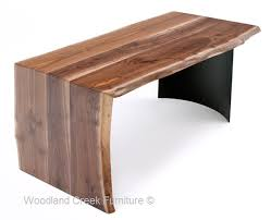 Modern Walnut Desk Contemporary Walnut Desk With File Drawer Modern Wood Desk