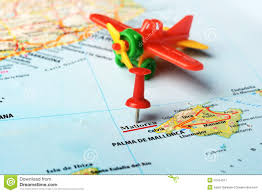 Menorca Spain Map by Mallorca Island Spain Map Airplane Stock Photo Image 52454217