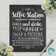 photo booth sign chalkboard selfie station sign wedding photo booth sign