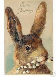vintage rabbit easter greetings to you vintage easter easter and easter card