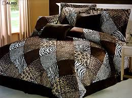 Cheetah Twin Comforter 7 Pieces Multi Animal Print Comforter Set Queen Size Bedding Brown