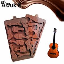 aliexpress com buy bass guitar shape silicone chocolate molds