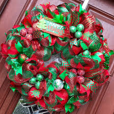 mesh christmas tree wreaths u2013 happy holidays