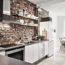 cuisine avec brique cuisine avec brique blanche meilleur idées de conception de