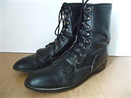 boots us sale vintage fringed combat boots diamond j black