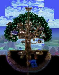 my tree house a long time in the making terraria