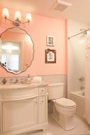Pink Tile Beveled Mirror Pink Washroom Gray Subway Tiles Light Pink